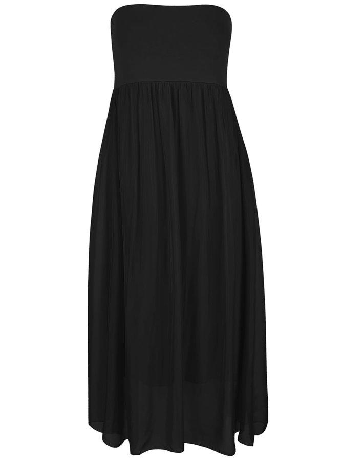 Čierne šaty bez ramienok Alchymi Torenia