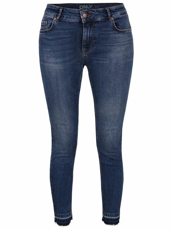 Modré skinny džíny ONLY Carmen