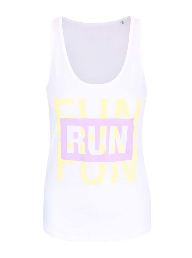 Bílé dámské tílko ZOOT Originál Run Is Fun