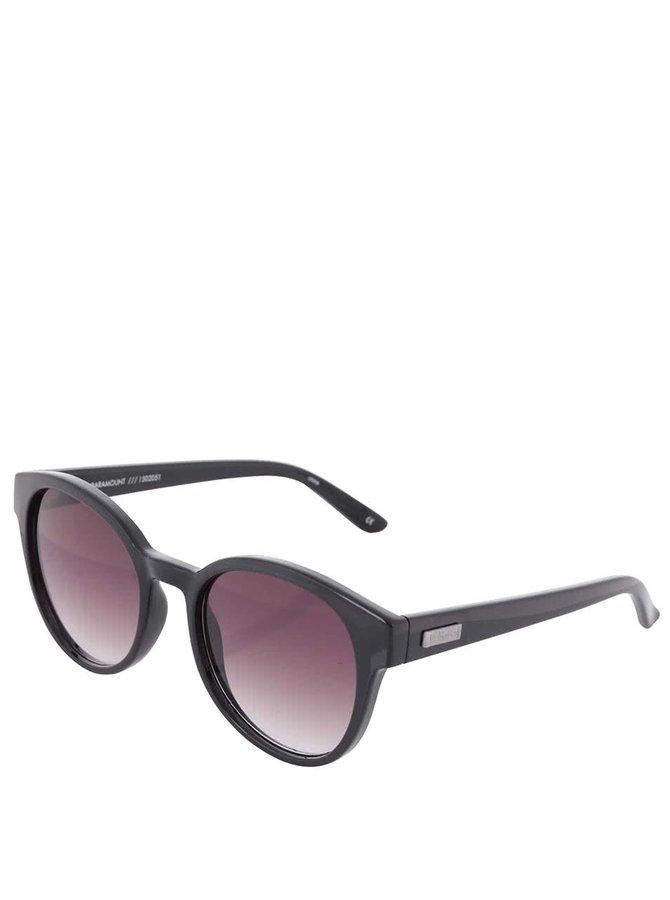 Černé unisex sluneční brýle Le Specs Parmount