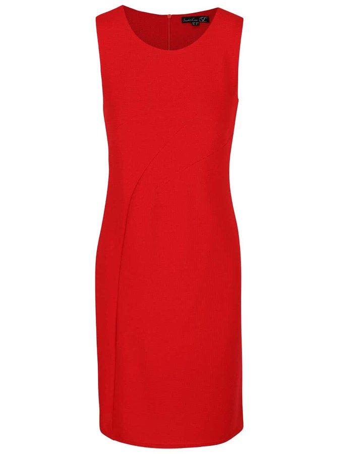 Červené pouzdrové krepované šaty Smashed Lemon