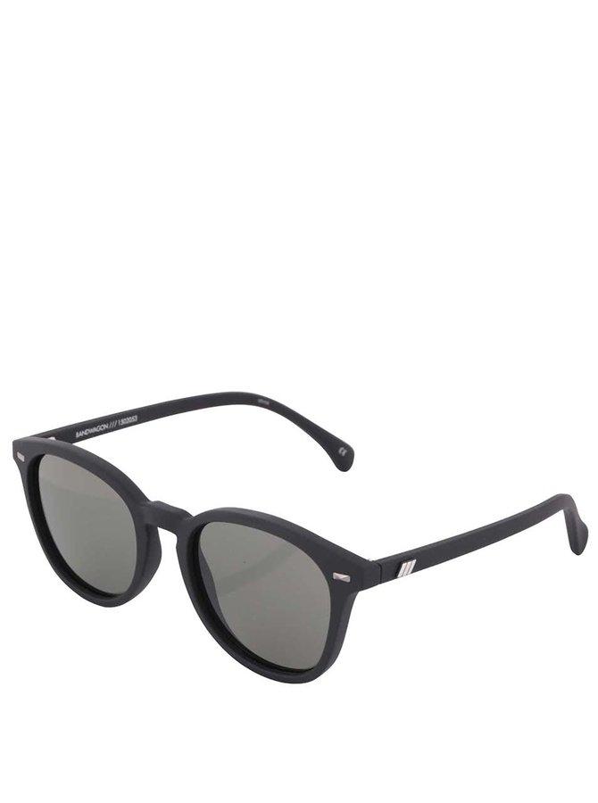 Čierne matné unisex slnečné okuliare Le Specs Bandwagon