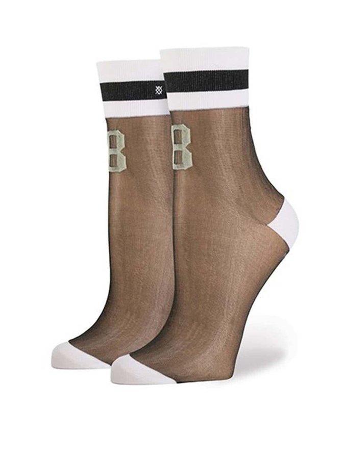 Bielo-čierne dámske sieťované ponožky Stance Number