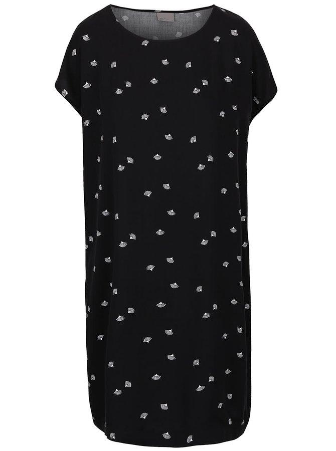 Rochie neagră Vero Moda New Maker cu imprimeu