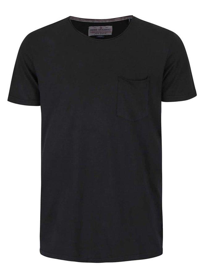 Černé triko s krátkým rukávem Shine Original Andy