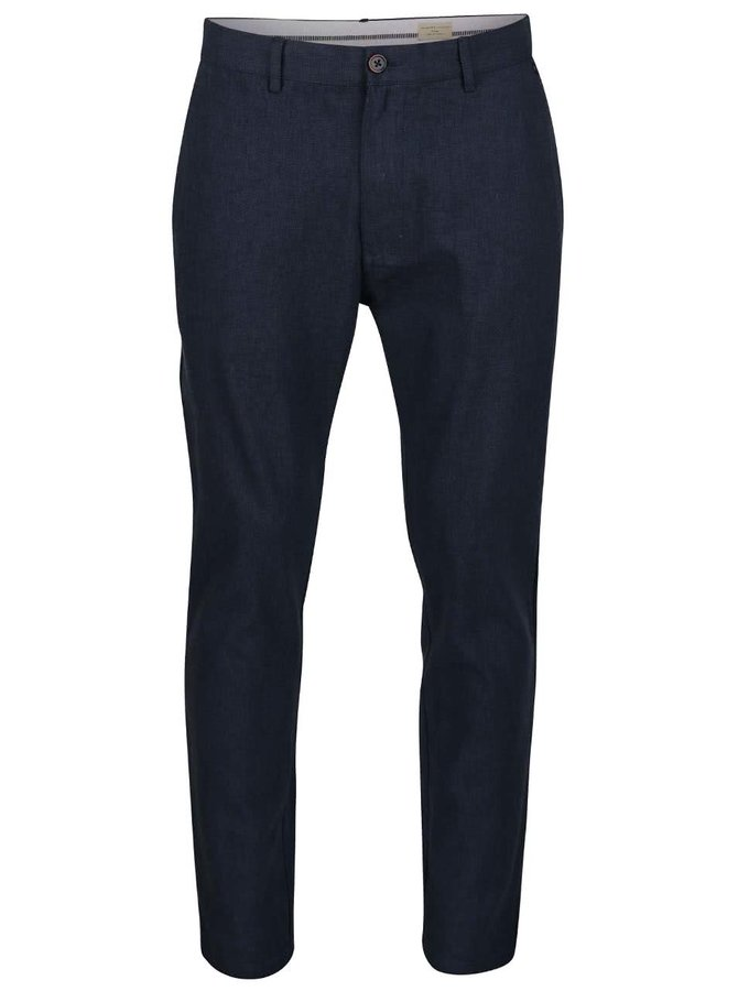 Pantaloni chino negri Selected Homme Tyler din bumbac