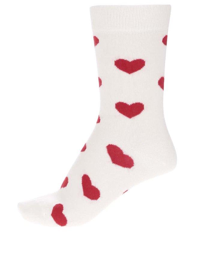 Krémové dámské ponožky Happy Socks Heart