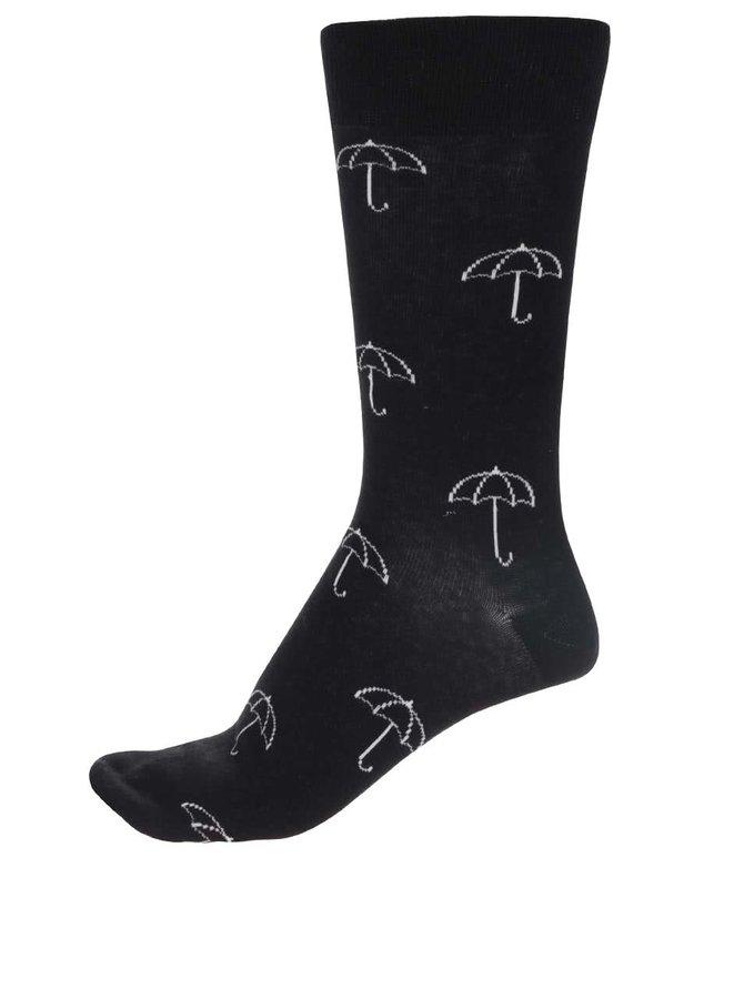 Černé unisex ponožky Happy Socks Umbrella