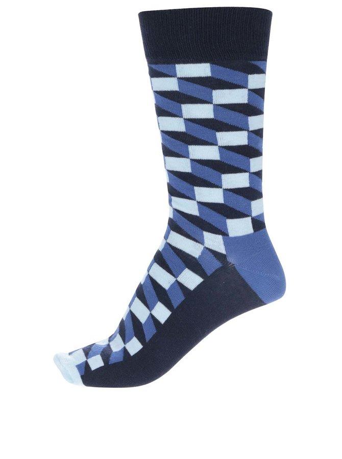 Modré pánske ponožky Happy Socks Filled Optic