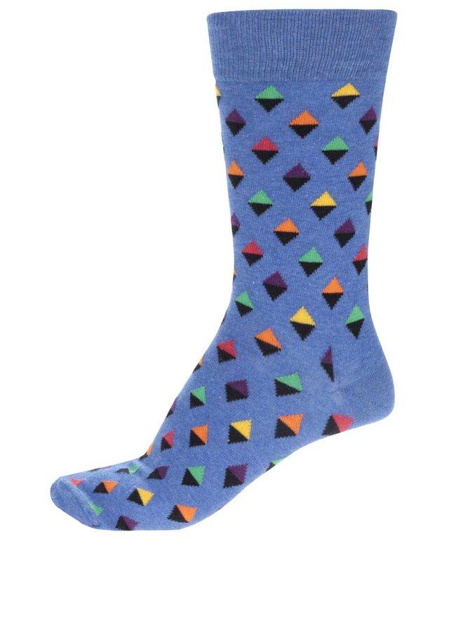 Modré pánské ponožky Happy Socks Mini Diamond