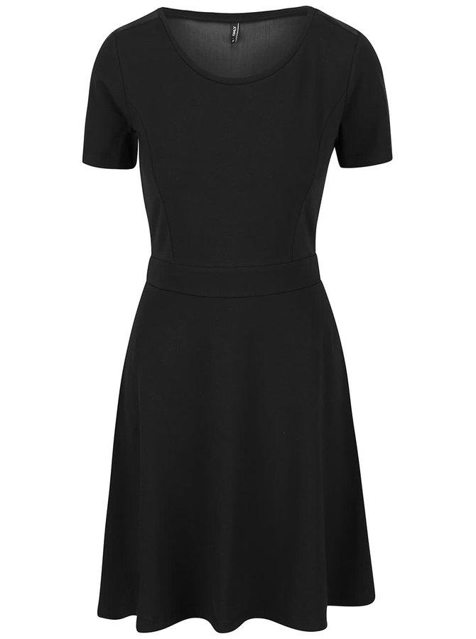 Černé šaty se síťovanými zády ONLY Niella