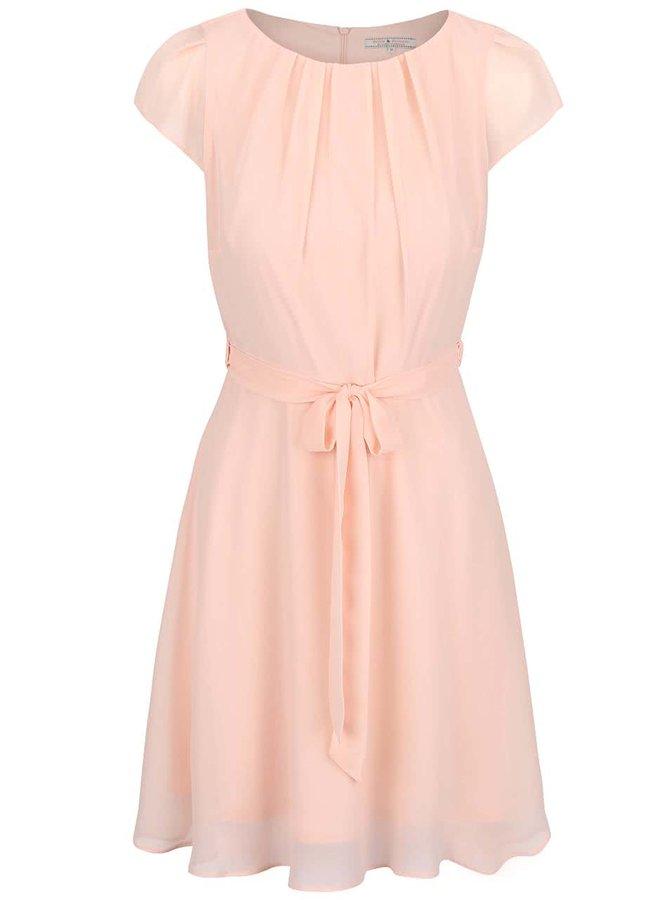 Marhuľové šifónové šaty Dorothy Perkins