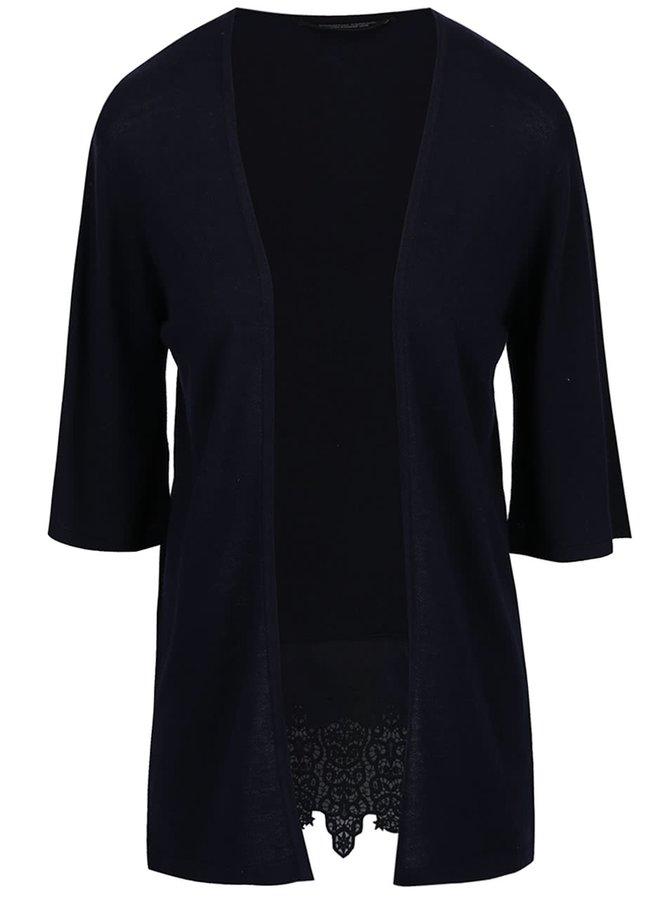 Tmavě modrý cardigan s krajkou na zádech Dorothy Perkins