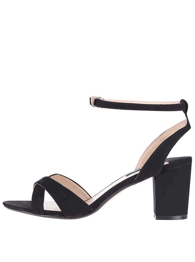 Sandale negre Dorothy Perkins cu baretă
