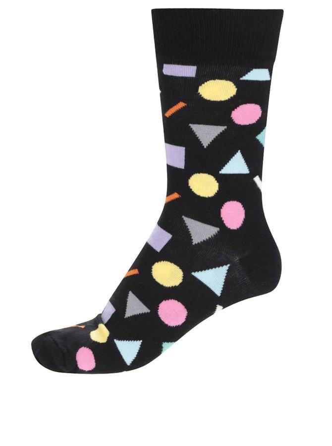 Șosete negre cu imprimeu Happy Socks Play pentru bărbați