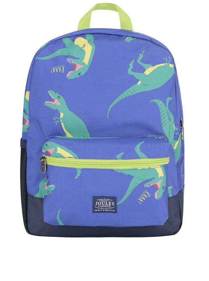 Modrý chlapčenský batoh s potlačou dinosaurov Tom Joule