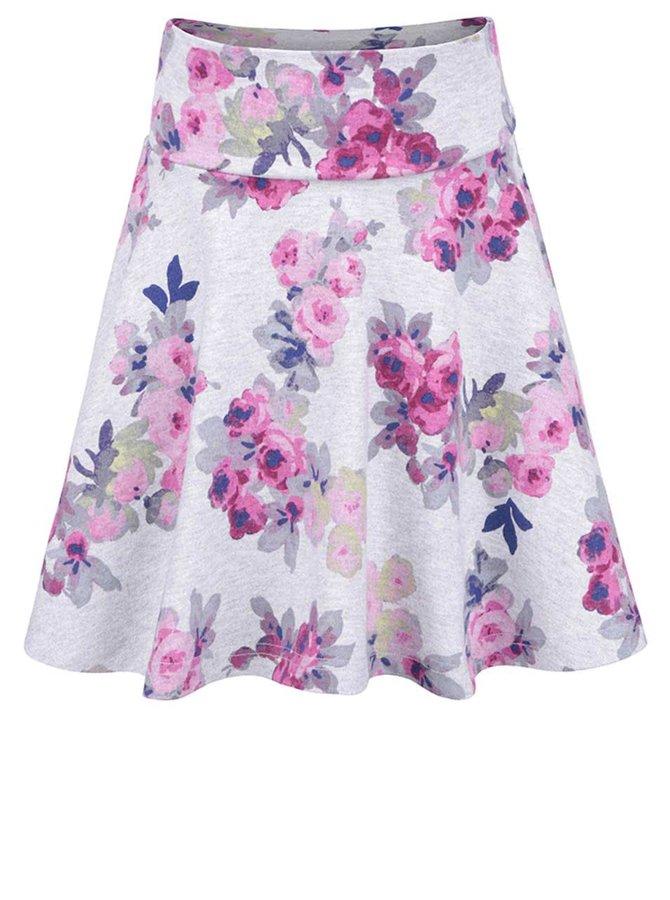 Šedá holčičí květovaná sukně Tom Joule Jen