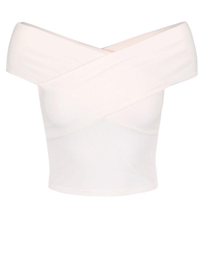 Krémový top s odhalenými ramenami Miss Selfridge