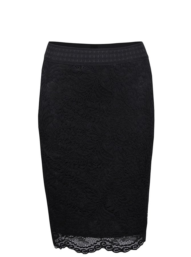 Čierna čipkovaná sukňa VERO MODA Celebe