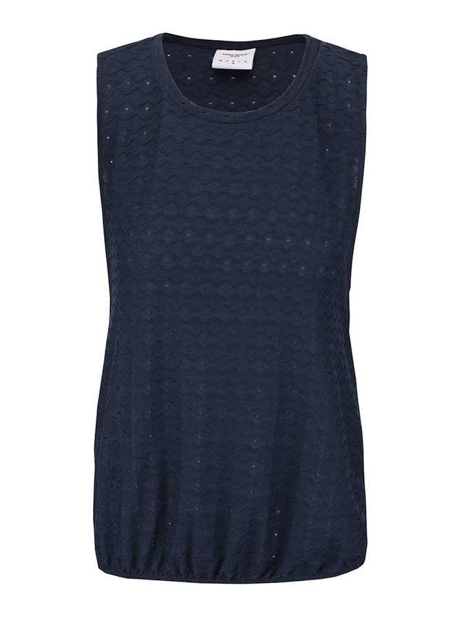 Tmavě modrý vzorovaný top Vero Moda Wavi
