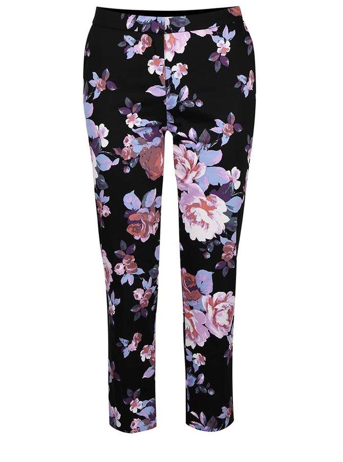 Čierne nohavice s farebnými kvetmi Miss Selfridge