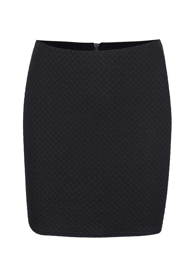 Čierna elastická sukňa VILA Naja