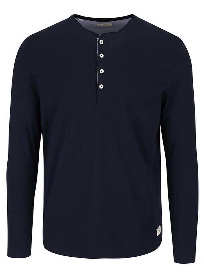 Bluză albastru ultramarin Selected Homme Niklas din bumbac