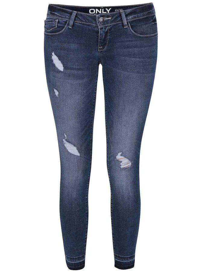 Tmavě modré skinny džíny s nízkým pasem ONLY Coral