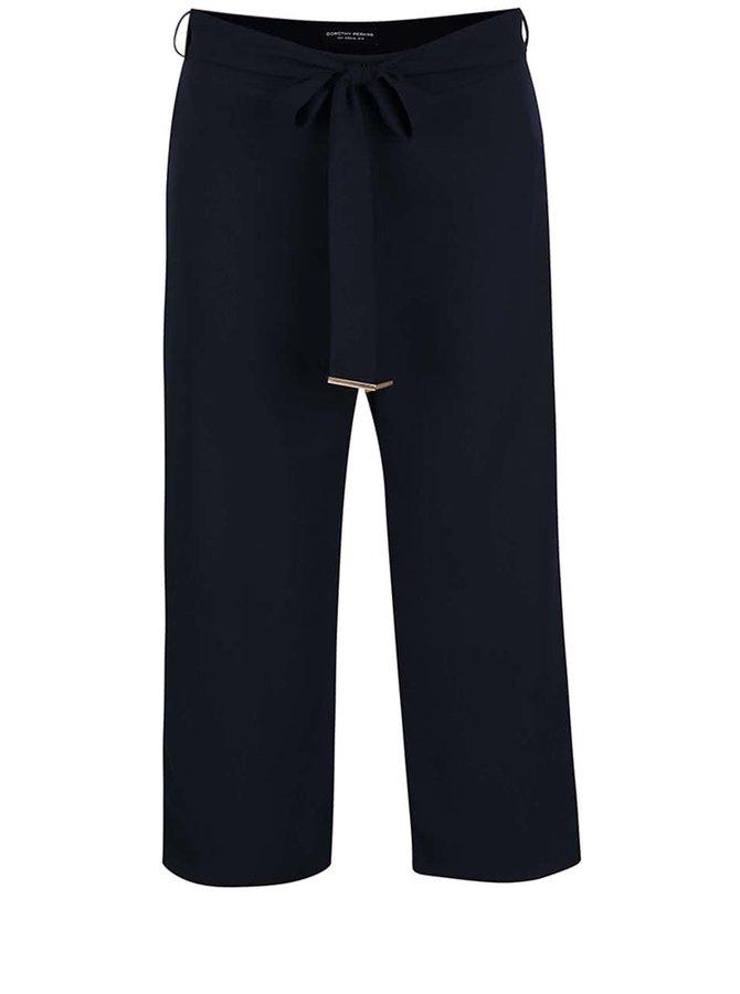 Tmavě modré culottes Dorothy Perkins