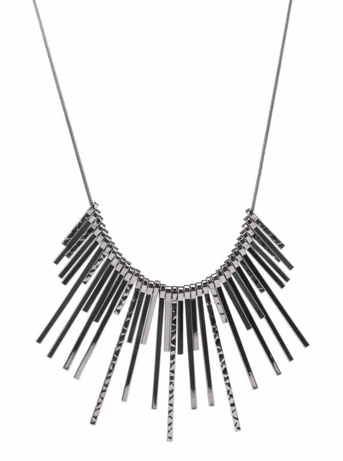 Tmavě šedý náhrdelník Pieces Palea