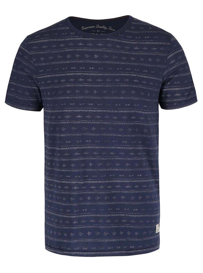 Modré vzorované tričko Jack & Jones Steve