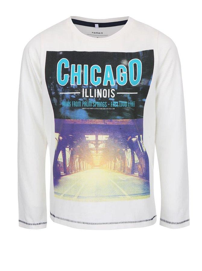 Krémové chlapčenské tričko name it Uno