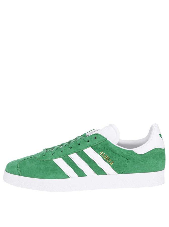 Zelené pánske semišové tenisky adidas Originals Gazelle