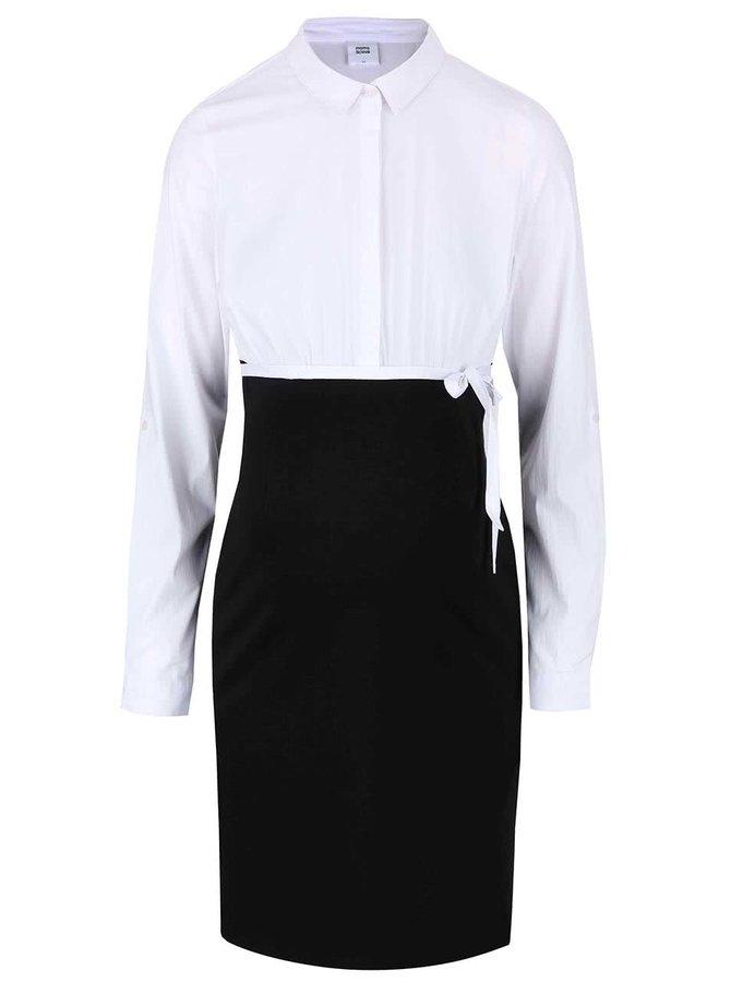 Bílo-černé těhotenské šaty Mama.licious Ebba