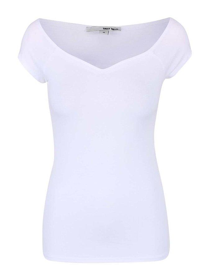 Biele tričko s krátkym rukávom TALLY WEiJL Star