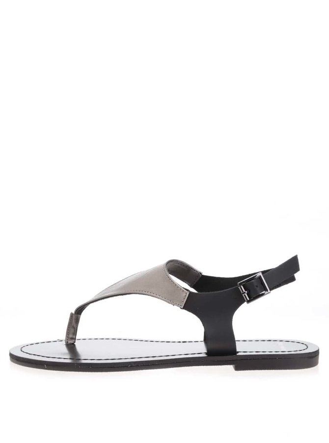 Čierne metalické remienkové sandálky TALLY WEiJL