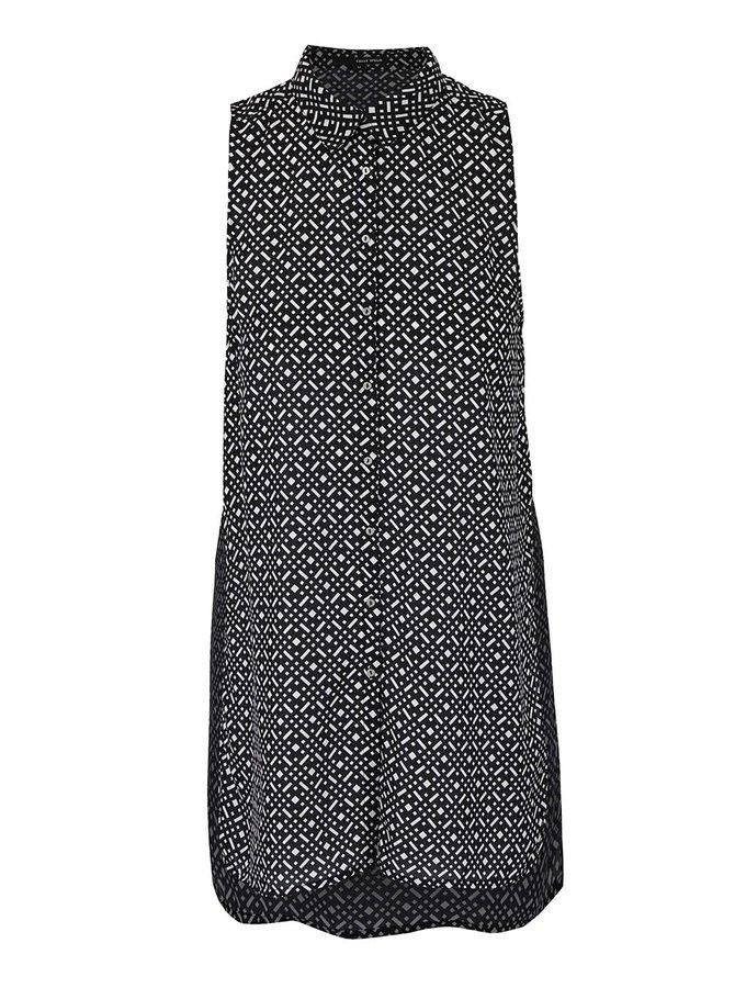Čierno-biela dlhšia košeľa bez rukávov TALLY WEiJL