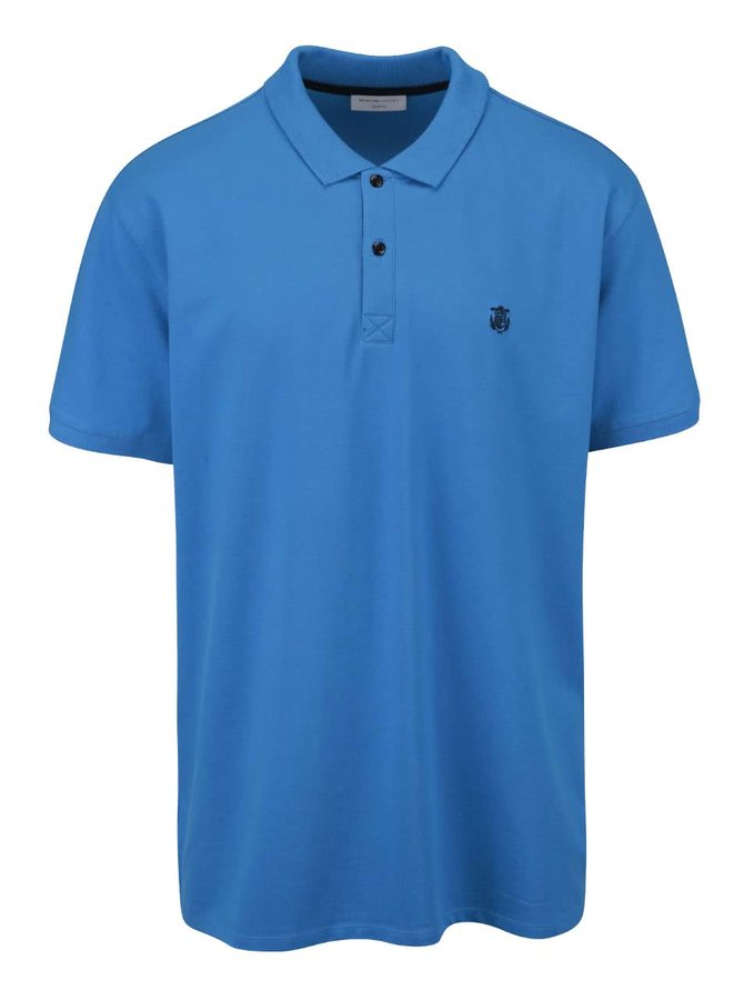 Modré polo triko Selected Homme Haro