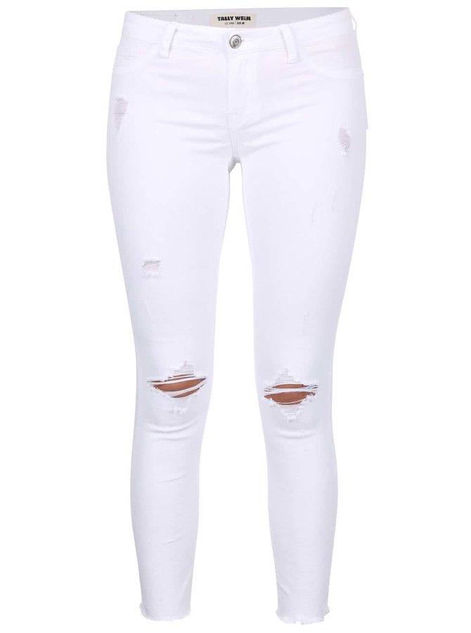 Biele nohavice s potrhaným efektom TALLY WEiJL