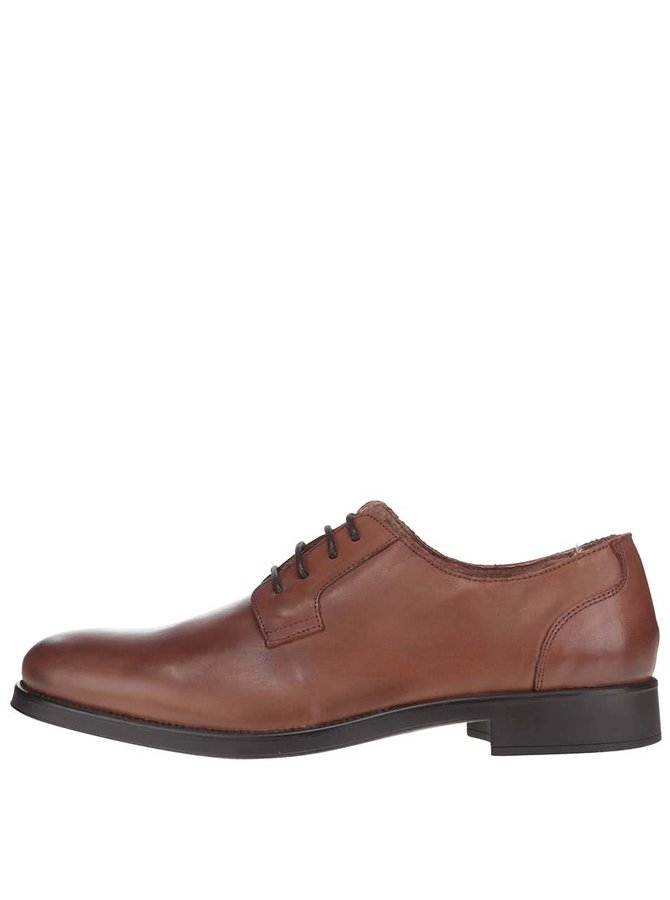 Pantofi maro din piele Selected Homme Oliver