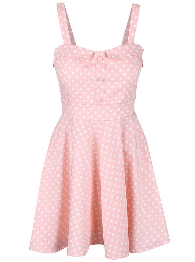 Ružové šaty s bielymi bodkami Apricot