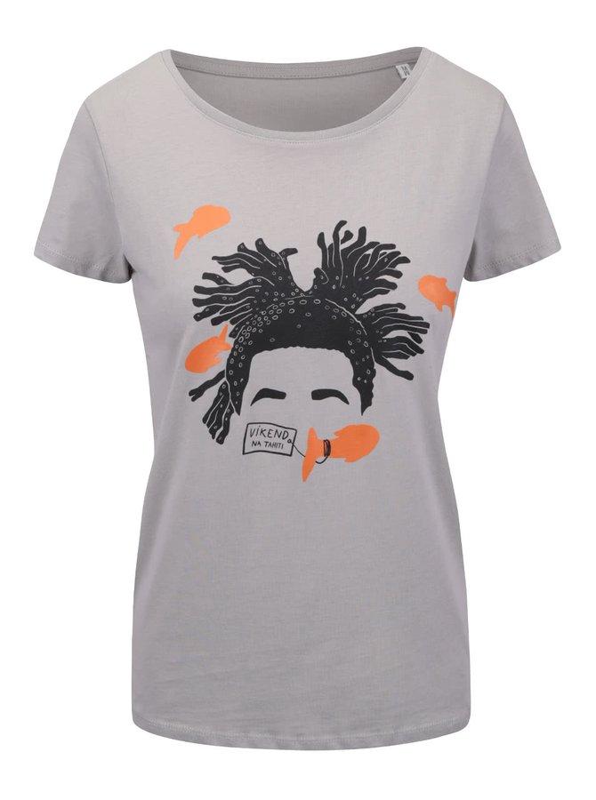 Světle šedé dámské tričko ZOOT Originál Víkend