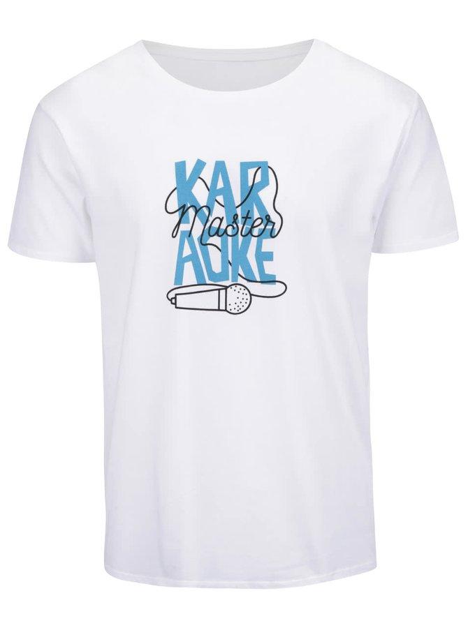 Tricou alb din bumbac ZOOT Originál Karaoke Master