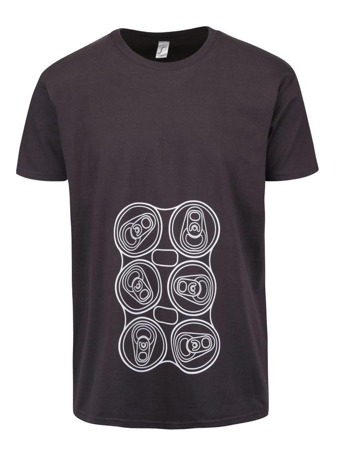 Sivé pánske tričko s potlačou ZOOT Originál Six Pack