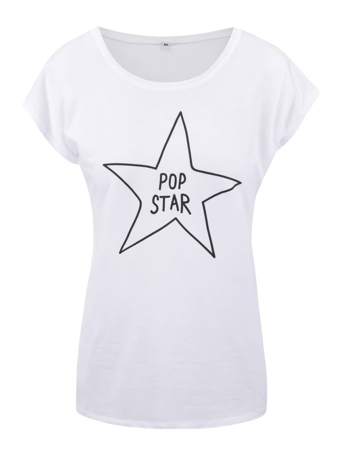 Tricou alb cu text ZOOT Original Pop Star