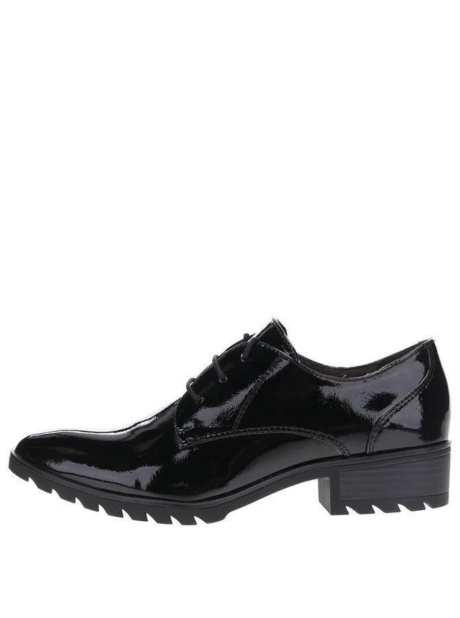 Pantofi negri Tamaris lăcuiți