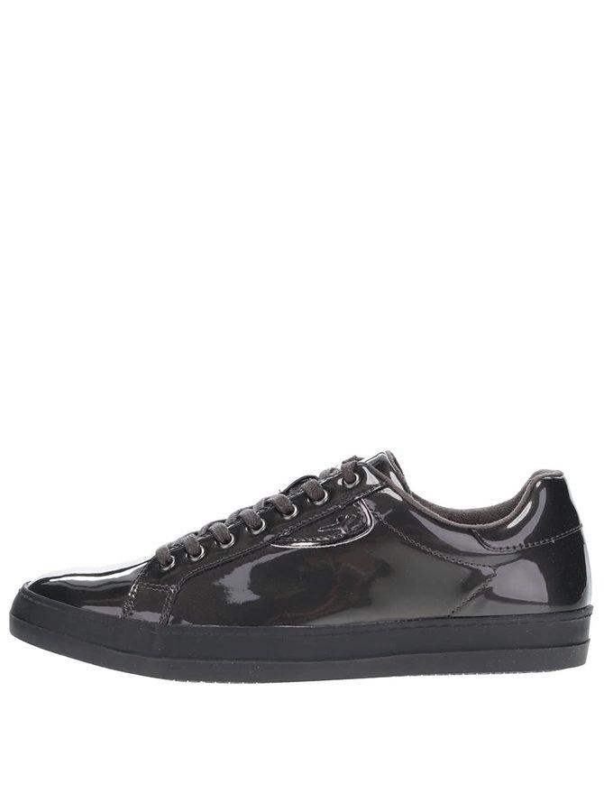 Pantofi sport gri Tamaris lăcuiți