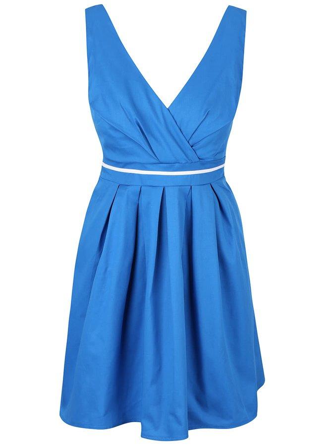 Rochie albastră cu fundă Apricot