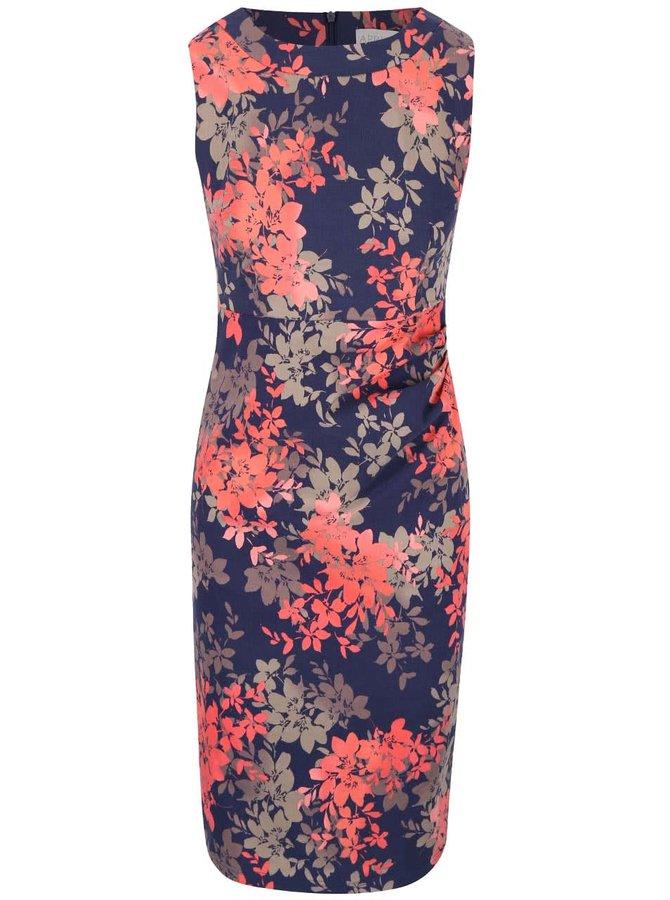Tmavomodré šaty s potlačou lístkov Apricot