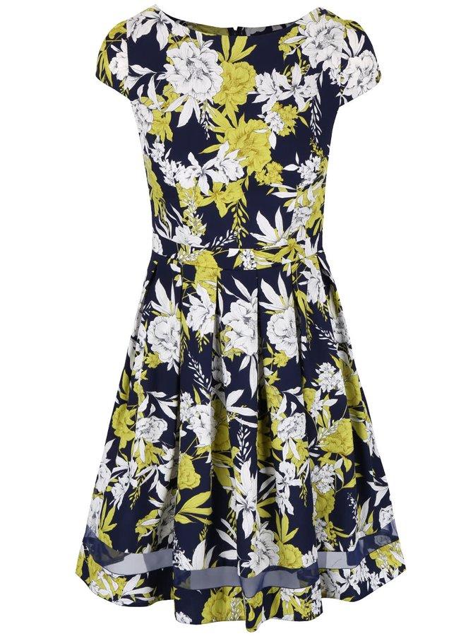 Tmavě modré šaty s květy Dorothy Perkins
